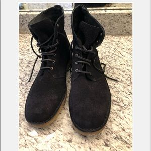 Rag & Bone black suede leather lace boots